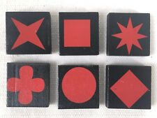 QWIRKLE Lot of 6 RED TILES  Game Pieces Replacement Parts 2010 MindWare