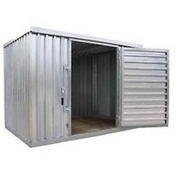 """Heavy Duty Storage Shed - Steel - Outdoor -  9 ft 2"""" W x 6 ft 1"""" D x 7 ft 1"""" H"""