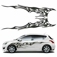 210x48cm Car Side Body Graphics Vinyl Decal Flame Racing Strip Sticker DIY