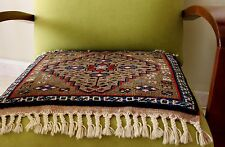 HANDMADE VINTAGE WOOL TURKISH CARPETS, SET OF TWO (2)