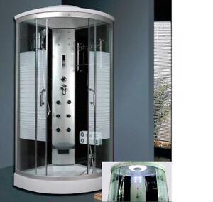 Duschkabine LED Komplettdusche Arielle 9081-1081  Echtglas Dusche 90x90  100x100