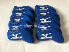 10PCS Golf Iron Headcovers Windows for Mizuno Club Caps Covers Blue Universal