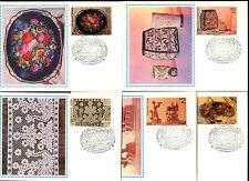 La Russia 1979 FOLK Crafts massimo Card Set #C 33559