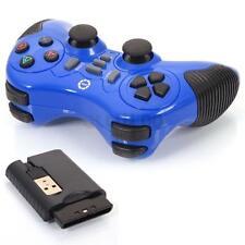 2.4GHz Wireless Vibration Shock Joystick Joypad Gamepad Controller for PC Blue