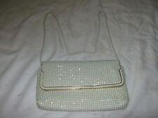 A Vintage White Ultra Mesh Aluminium Clutch Strap Shoulder Snake Strap Handbag