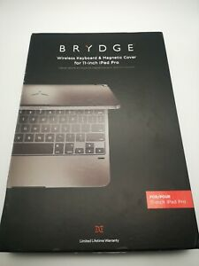 BRYDGE 11.0 Wireless Keyboard With Back Cover For ipad pro  11 NEW