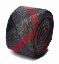 Cravate bleus pour homme en 100% laine