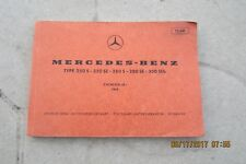 1968 Mercedes  Benz 280SE owners manual