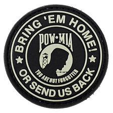 PVC Morale Patch Bring 'em Home Send Us Back POW MIA 3D Badge Hook #40