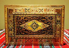 Wooden Mosaik jewelery box handmade inlay,Oriental engrave, Damaskunst K 2-2-46