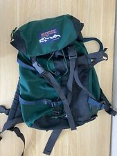 Vintage Jansport Large Hiking Backpack Bag Camping CarryOn  Green USA 90s