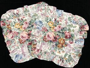 Ralph Lauren ALLISON Handmade PAIR Bed Throw Pillow Covers w/ Ruffles
