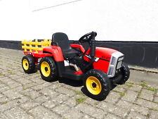 Kinder Elektroauto Traktor Kinderauto Kinderfahrzeug Elektro 2x25 W Rot