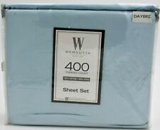 Wamsutta Day Bed Sheet Set 400 Thread Count 100% Cotton Solid Sateen