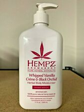 HEMPZ Whipped Vanilla Creme & Black Orchid Herbal Body Moisturizer 17oz