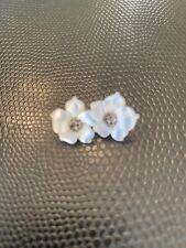 Stephen Dweck Flower Earrings Mother of Pearl Sterling Silver