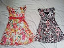 2 Speechless Girls Dresses Size 12 Red Black Animal Print Orange Spring Floral