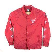 Vintage Chicago Bulls NBA Mens 2XL Nylon Red Coaches Jacket