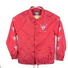 Vintage Chicago Bulls NBA Mens 2XL Nylon Red Coaches Jacket