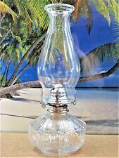 KEROSENE OIL LAMP 8 PANELS MADE IN AUSTRIA CLEAR GLASS MADE BY LAMP LIGHT FARMS