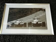 LARGE CAR PICTURE PRINT FRAMED 40 X 30 INCH RACING BMW