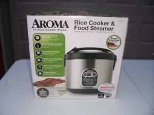 Aroma Rice Cooker Food Steamer Slow Cooker 20 Cup Digital ARC-150SB - New in Box