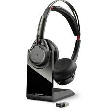 Plantronics Voyager Focus Uc B825 Bluetooth Headset Bundle / 202652-03 - Vgc