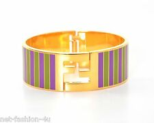 FENDI FF LOGO DETAIL METAL BRACELET CUFF SIZE L BNWT BOX PERFECT GIFT