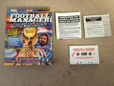 Commodore 64 RARE Big Box Game * FOOTBALL MANAGER WORLD CUP EDITION *  C64