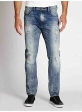 $128 Guess Mens  Regular Tapered Jeans In Sewanee Wash destroyed details Size 30
