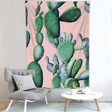 Watercolor Painting Cactus Flower Tapestry Wall Hanging Living Room Bedroom Dorm