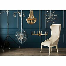French Wood Bead Empire Chandelier Cottage Anthropologie Replica $295 NEW