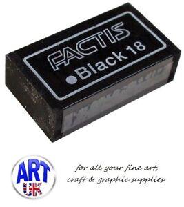 Factis Artists Black Extra Soft Magic Graphite & Charcoal Pencil Eraser/Rubber