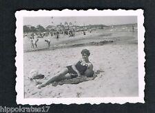 BINZ, altes Foto vintage Photo, Rügen Frau beach woman beautiful lady plage /61