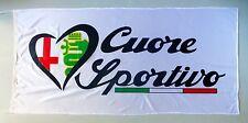 ALFA ROMEO FLAG CUORE SPORTIVO - SIZE 150x75cm (5x2.5 ft) - BRAND NEW