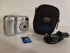 Bundle Point & Shoot Nikon Coolpix 3200 Digital Camera Tested w/ Case & SD Card