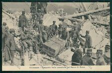 L'Aquila Avezzano Terremoto Banca cartolina QQ3909