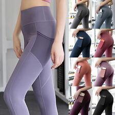 Damen Leggings Tasche Sporthose Laufhose Trainingshosen Fitness Gym-Yoga Leggin*