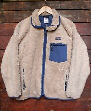 VTG PATAGONIA RETRO-X OATMEAL SHERPA FLEECE PILE JACKET MADE IN MEXICO M