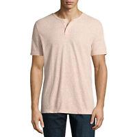 NWT $22 Men Arizona Jeans Co short sleeve  henley t-shirt  NEW! SIZE SMALL