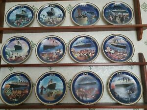 Limited edition, collectable, titanic plates