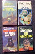 1970/71 Isaac Asimov paperback LOT of 4 FN/FN+ Pebble Davis Starr Naked Sun Dust