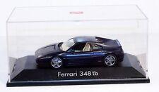 Herpa Ferrari 348tb, dunkelblau, 1:43, in Präsentationsbox               #ab1168