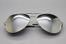 Aviator Sunglasses Mirror Lens New Men Women Fashion Frame Retro Silver vintage