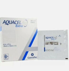 """CONVATEC Aquacel AG Extra Hydrofiber Dressing - REF 420677 - 4""""X5"""" - 10 PACK"""