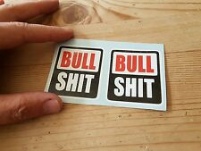 Rock shox bull stickers x2 funny cycling mtb mountain bike retro bike