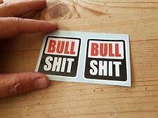 Rock shox bull stickers x2 funny cycling mtb mountain bike retro bike