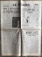 N131 La Une Du Journal Le Figaro 15 Mai 1948