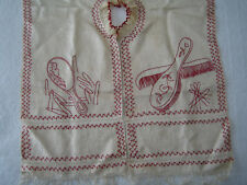 As seen on PBS' VICTORIA, embroidered ANTIQUE COSMETIC CLOTHING PROTECTOR, scarf