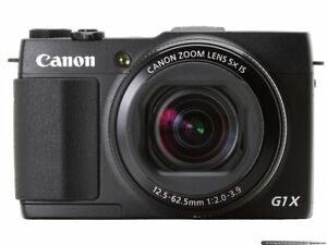 Canon Powershot G1X Mark II 12.8 MP Complete Battery and Charger + 64GB SD CARD